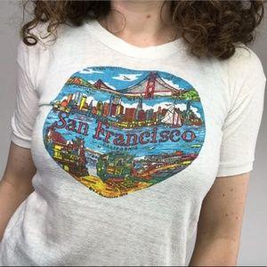 Tops - Vintage 1974 San Francisco Graphic T-shirt Size XS